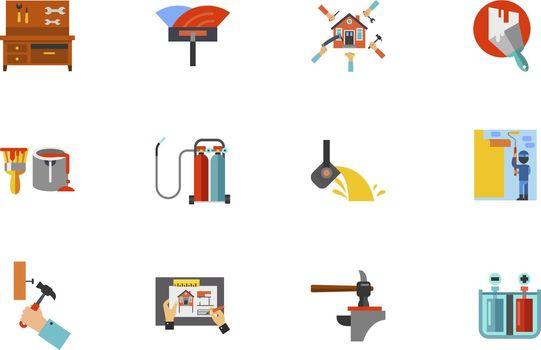 Home Renovation Icon Set
