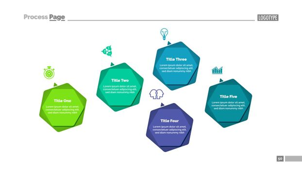 Infographic Diagram with Five Options