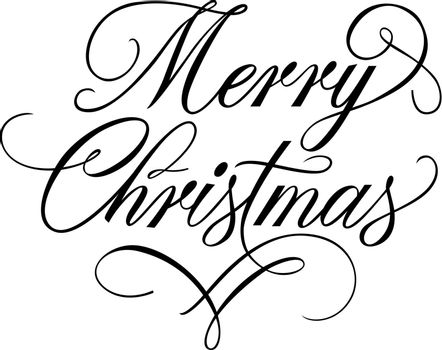 Merry Christmas Lettering with Flourish