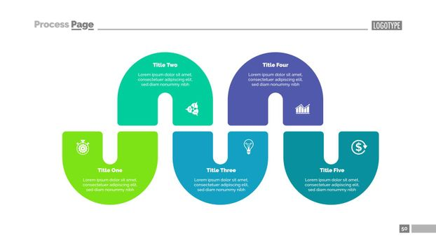 Process Infographics with Five Elements
