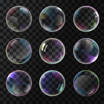 Colorful soap bubbles
