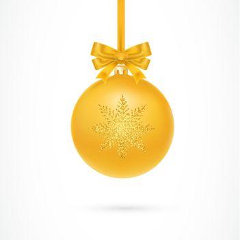 Gold Christmas Ball Illustration