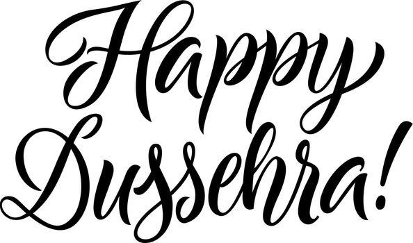 Happy dussehra lettering