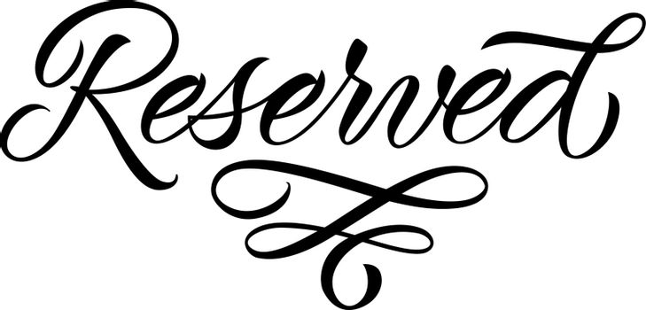 Reserved lettering with ornament