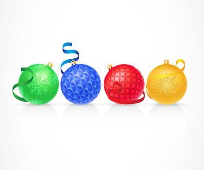 Set of Christmas Balls Illustration
