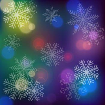 Snowflakes on Dark Background