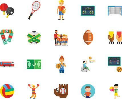 Ball games icon set