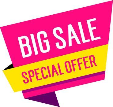 Big Sale Lettering on Speech Bubble
