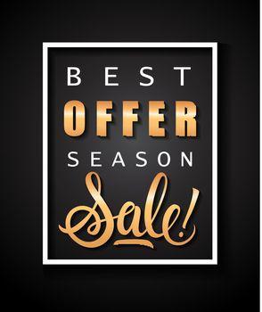 Best Offer Season Sale Lettering