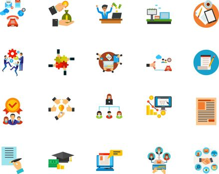 Business communication icon set. Can be used for topics like collaboration, paperwork, development, personnel
