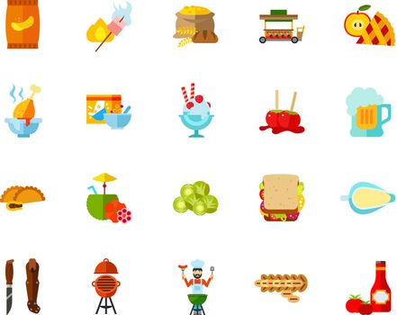 Calories icon set