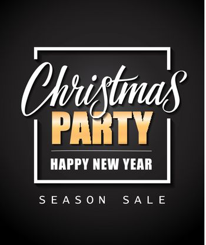 Christmas Party Season Sale Lettering