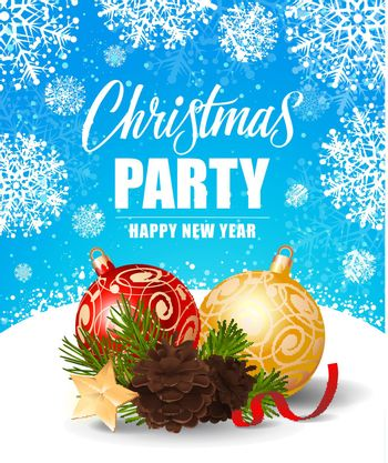 Christmas Party and New Year Inscription