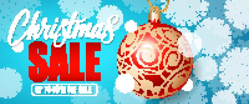 Christmas Sale Lettering and Bauble