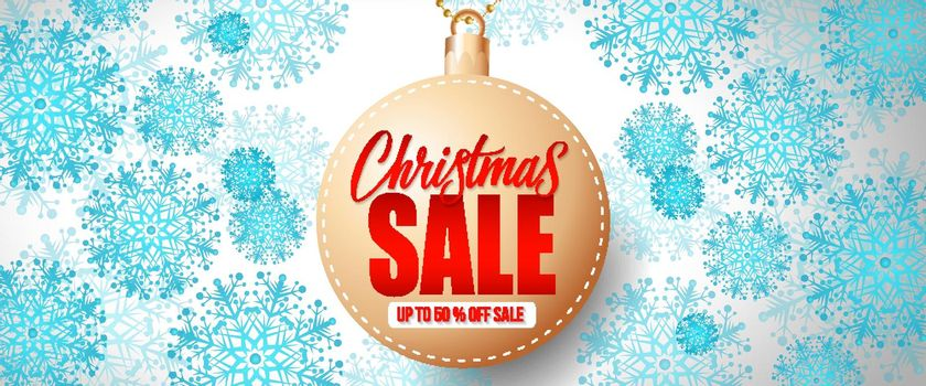 Christmas Sale Lettering on Bauble