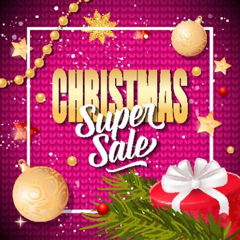 Christmas Super Sale Inscription in Frame