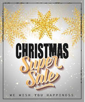Christmas Super Sale Lettering