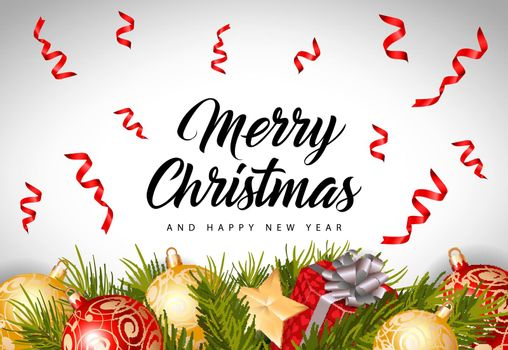 Christmas and New Year Inscription
