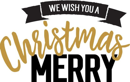 Christmas lettering with scroll
