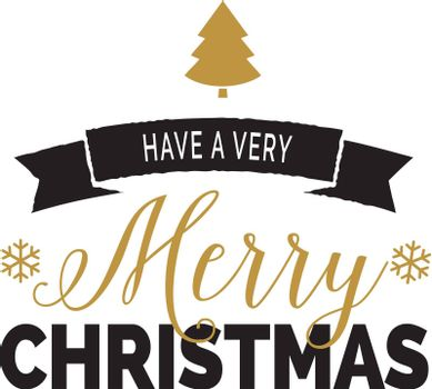 Christmas lettering with decor
