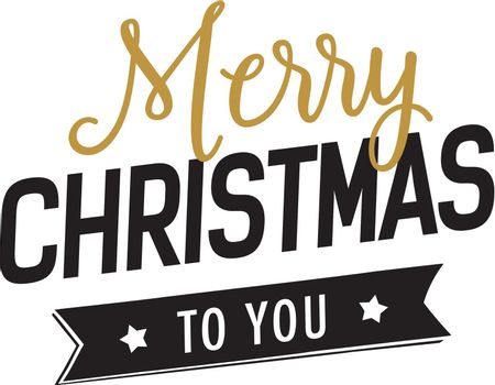Christmas to you lettering with ribbon