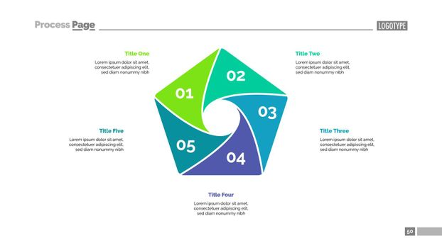 Cycle Diagram with Five Elements Template