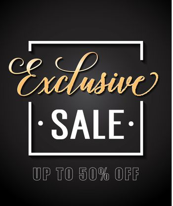 Exclusive Sale Lettering in Frame