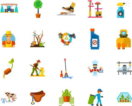 Farming icon set