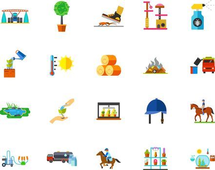 Farmland icon set