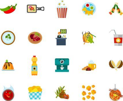 Food establishment icon set