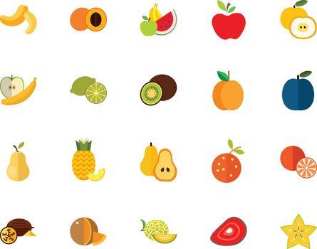 Fruits icon set