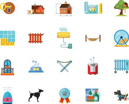Home maintenance icon set