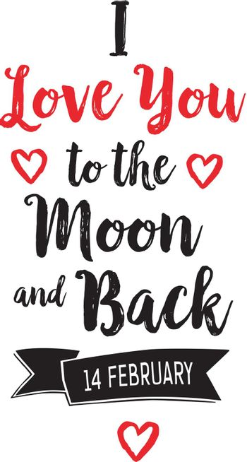 I Love You to Moon and Back Lettering