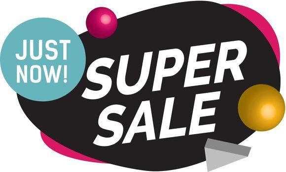 Just Now Super Sale Lettering