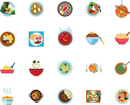 Meal icon set