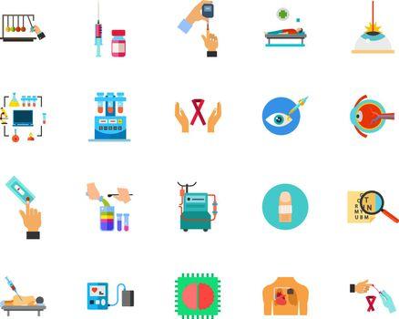 Medical test icon set