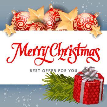 Merry Christmas Best Offer Inscription