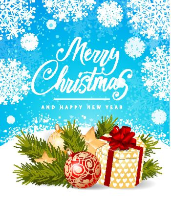 Merry Christmas and New Year Inscription