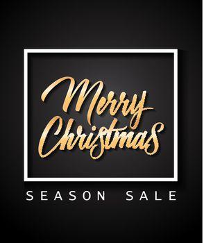 Merry Christmas Season Sale Lettering