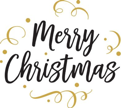 Merry Christmas lettering for party