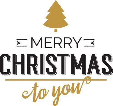Merry Christmas to you card with wish