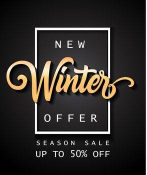 New Winter Offer Season Sale Lettering