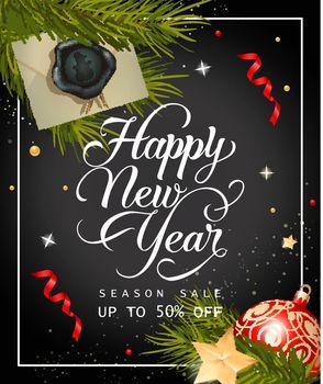 New Year Season Sale Lettering