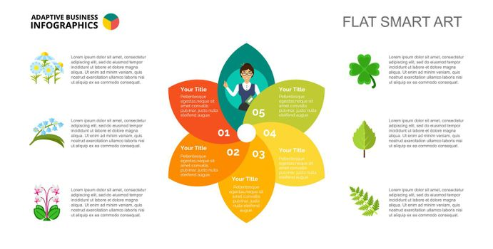 Petal Chart with Five Elements Template