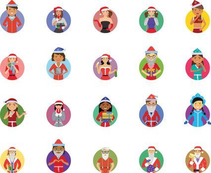 Santa icon set
