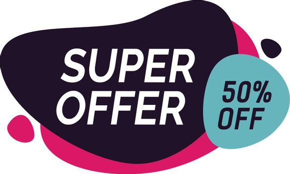 Super Offer Fifty Percent Off Lettering