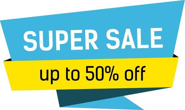 Super Sale Lettering on Origami Bubble