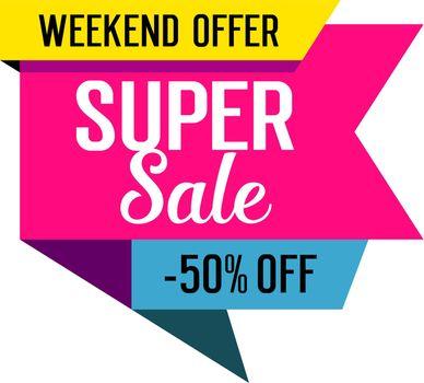 Super Sale Lettering on Tag