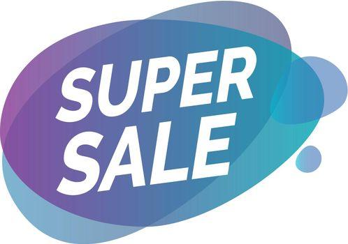 Super Sale Lettering on Transparent Blots