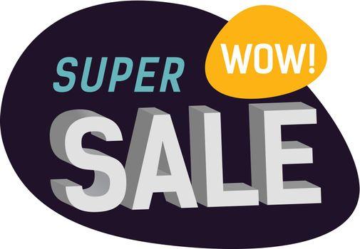 Super Sale Wow Lettering on Paint Blot